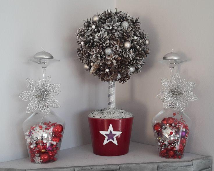 dekoracja z kieliszków do wina
