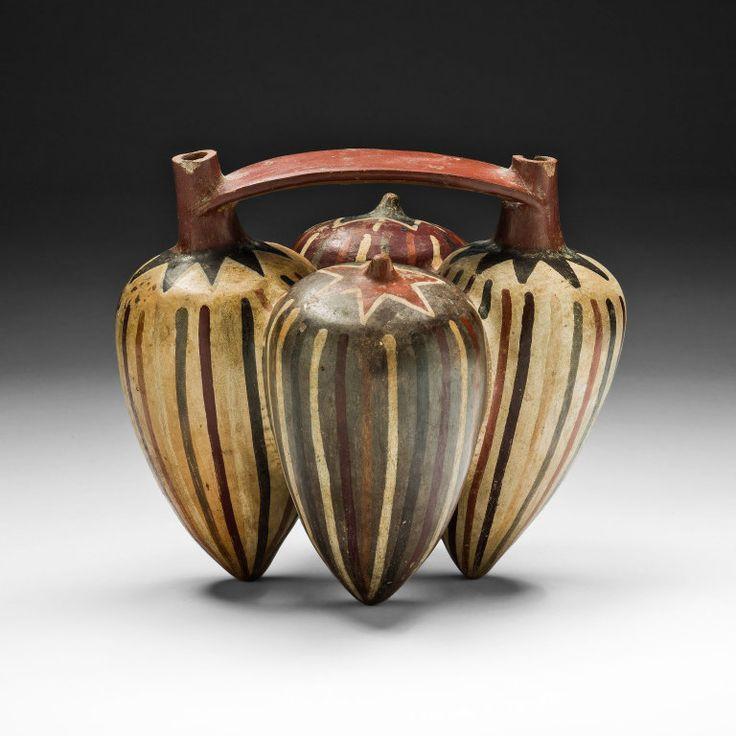 Nazca South coast, Peru Vessel in the Form of Pepino Peppers, 180 B.C./A.D. 500