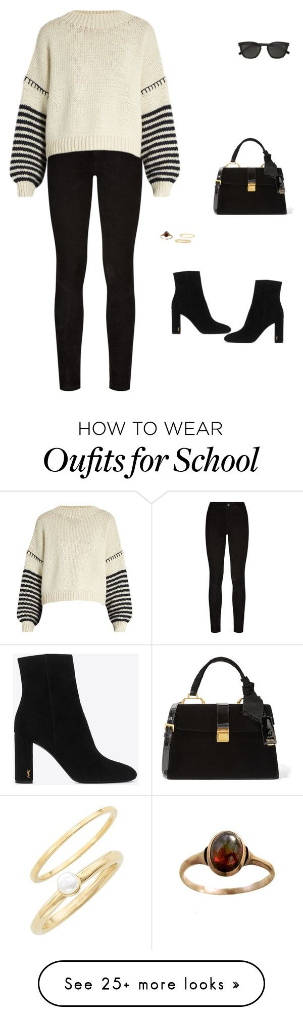 """""""Unbenannt #2653"""" by tanjasodd on Polyvore featuring Paige Denim, Sportmax, Yves Saint Laurent, Jules Smith and Miu Miu"""
