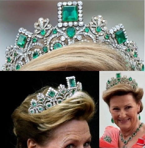 Queen Sonja and the Norwegian Emerald and Diamond Crown: Crowns Tiaras Diadems, Tiaras Crowns Etc, Coronas Tiaras, Tiaras Crowns Diadems, Emeralds Tiaras, Ahhhh Tiaras, Crowns Royalty, Tiaras Crowns Royal Jewels