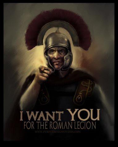 Roman legion recruitment poster