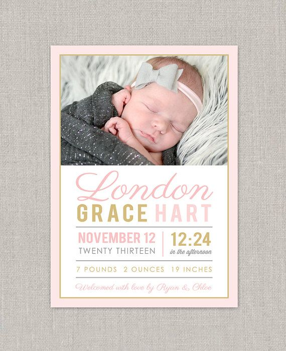 39 best Baby Announcements images – Baby Girl Announcements Pinterest