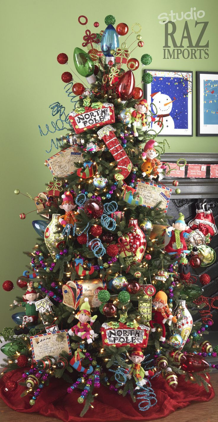 Luxurious Christmas Tree Decorating Ideas For School Decor Christmas Trees From RAZ Imports Christmas Trees Navidad And Bebe
