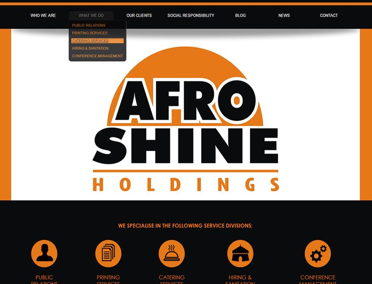 WEBSITE DESIGN >> Afroshine Holdings - http://www.afroshine.co.za/ - Created by Design So Fine