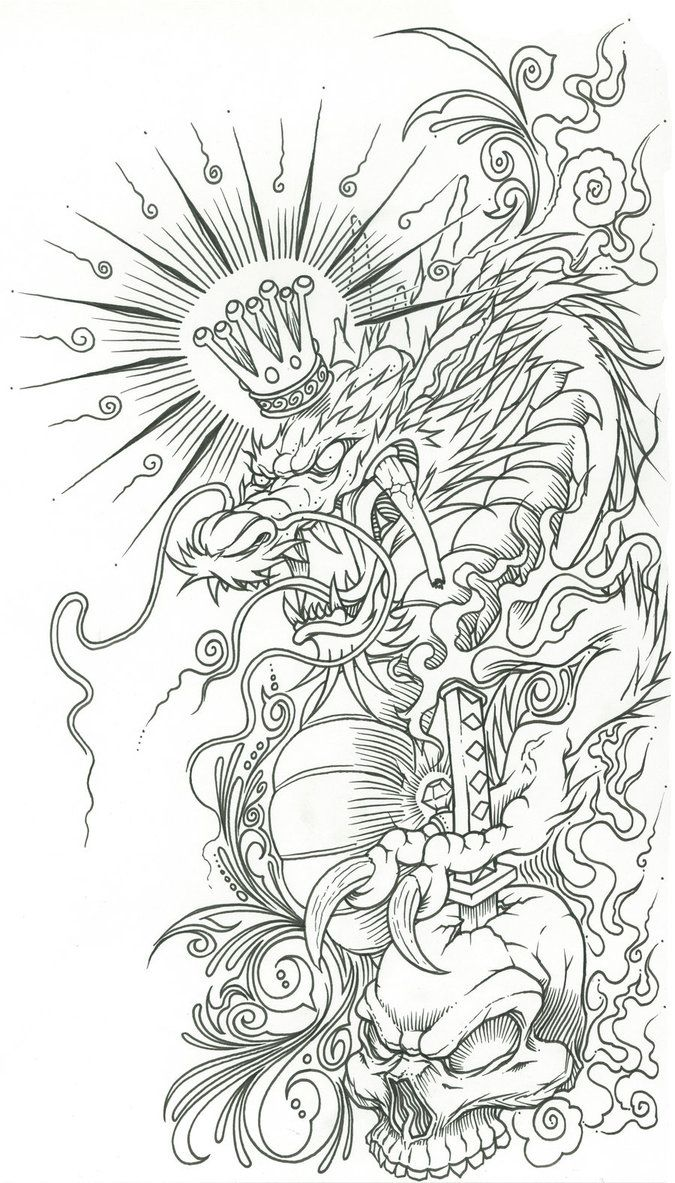 tattoo oriental desenho - Pesquisa Google