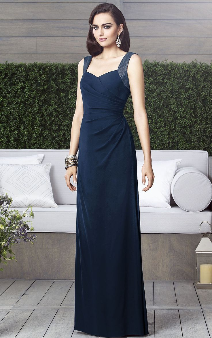 Royal blue chiffon one shoulder bridesmaid dresses with side split - Empire Sleeveless Chiffon Shoulder Straps Zipper Bridesmaid Dresses
