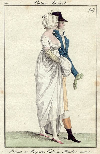 Man and woman walking. Costume parisien an 7 (1798-9)
