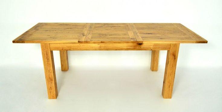 Solid oak table -extendable