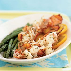 Champagne and Orange-Steamed Lobster Tails en Papillote   MyRecipes.com #myplate #protein