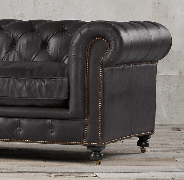 17 best images about man cave on pinterest leather for Leather studded couch