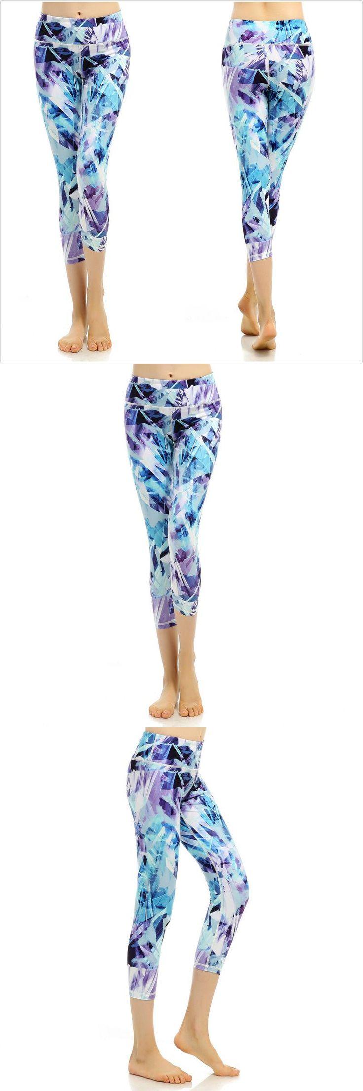 [Visit to Buy] Elastic Legging Capri Compression Tights Sports Yoga For Women High Waist Leggings Exerise Trousers Gym Clothing Bodyshape Suits #Advertisement