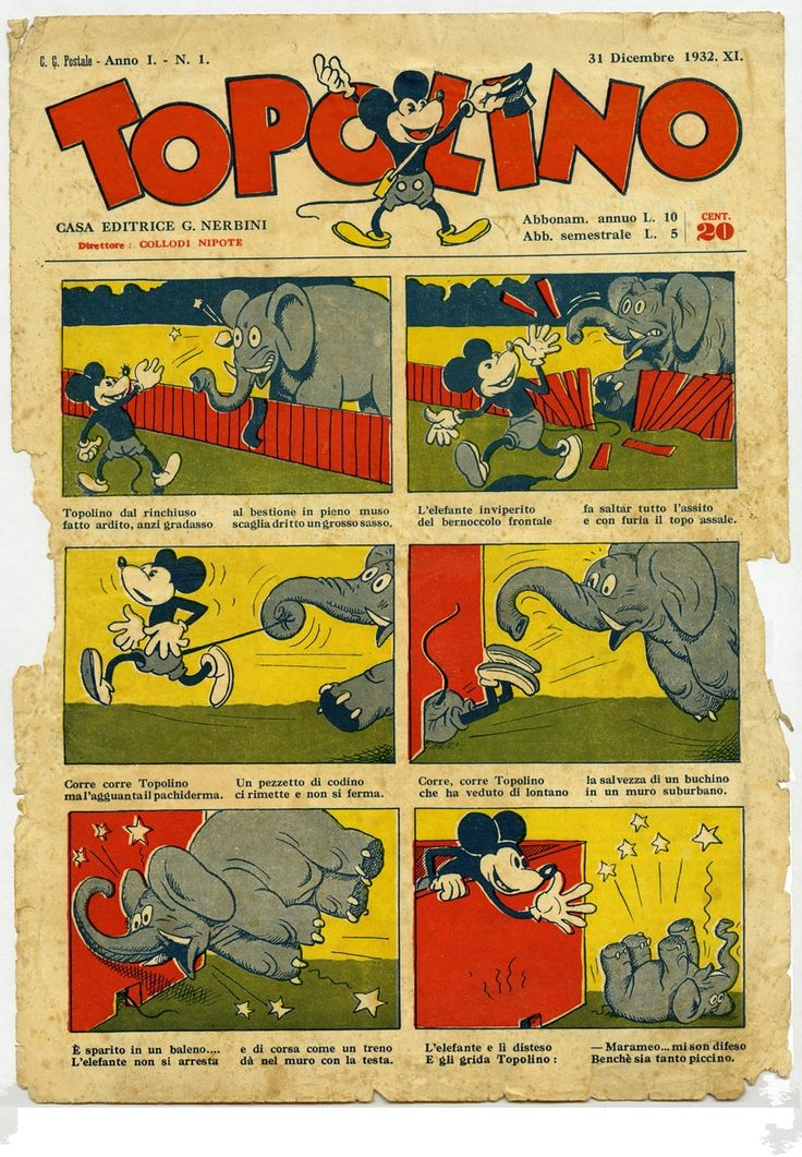 Il Giornale di #Topolino n.1 - 1932