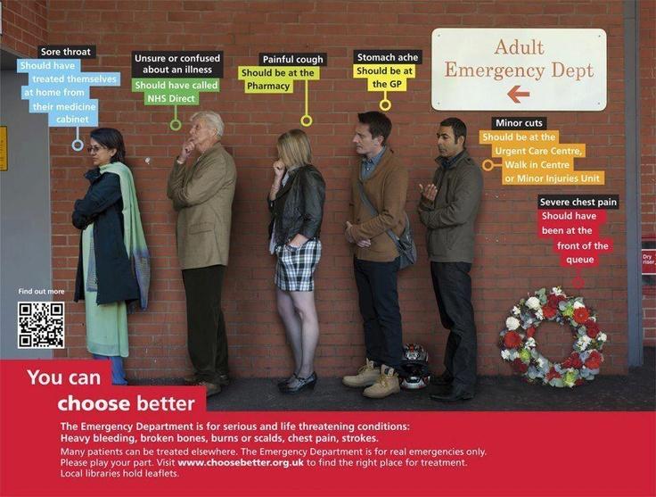 Social marketing. Love it. Love the NHS. Emergency room