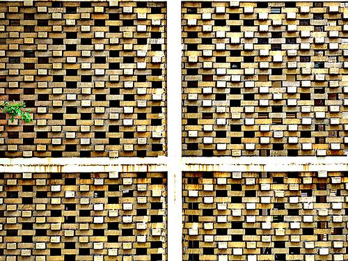 Perforated Brick Screen for Apartment House Steps | Flickr - Photo Sharing!