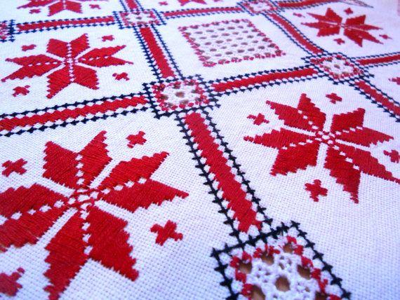 Red white black Traditional Transylvanian door TransylvaniaMania