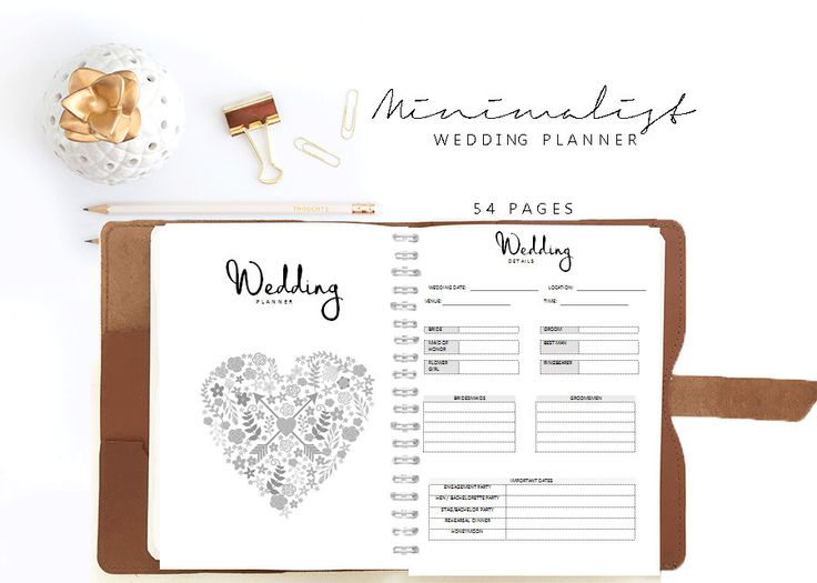 Wedding Planner Organizer Book Letter Von Paperscribblesco