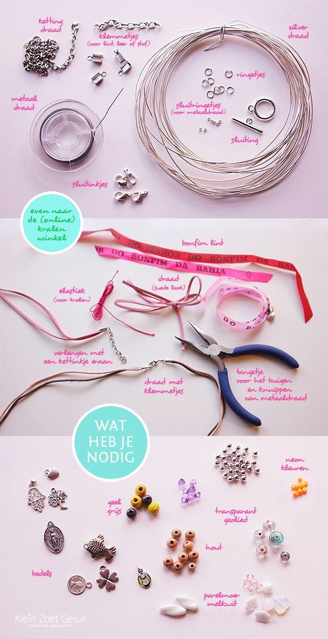 Klein Zoet Geluk: Vrolijke armbandjes maken