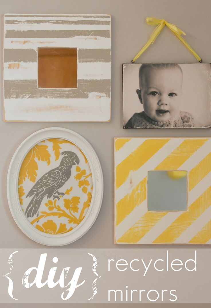 From Plain to Pretty Mirrors- So simple, so chic! Why didn't i think of that?
