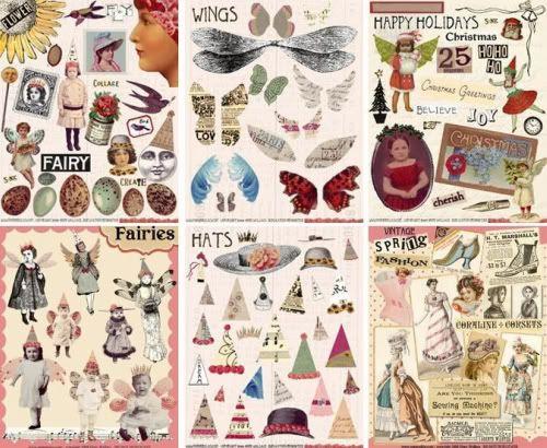 Free Vintage Images for Crafts | Lovely vintage designed collage sheets for paper crafts - oh my so ...
