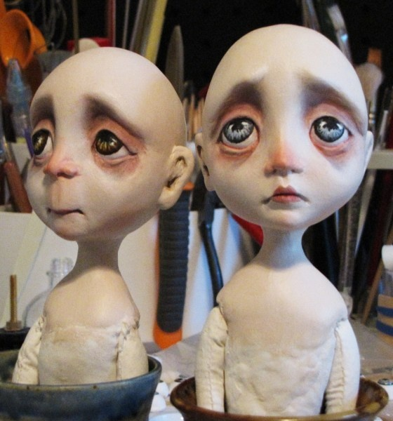 Goth Dolls.  Somehow so charming in their expressiveness.