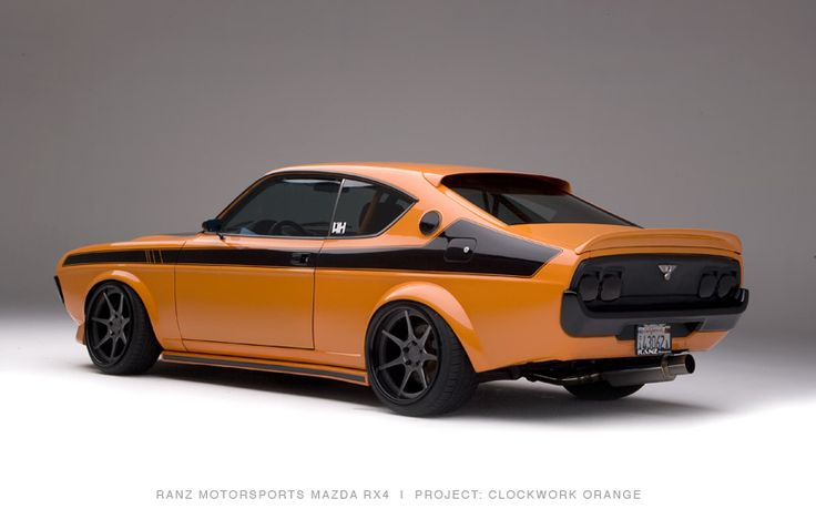 1974 mazda rx4. im not so hot on the color, but the car is beautiful none the less.