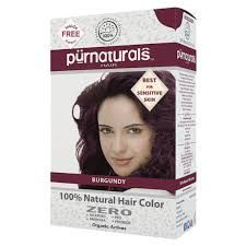 Best for sensitive skin, no side effects, loved by happy users, physician formulated 100% Natural Burgundy Hair Color.