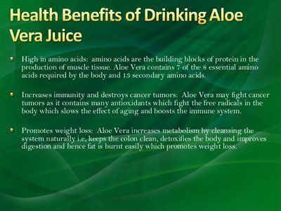 Most of us must be knowing about the use of aloe vera facial creams or lotions. But it is aloe vera juice that is actually the most beneficial for the