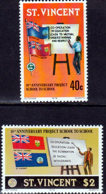 St Vincent 1978 Education Set Fine Mint SG 564 5 Scott 535 6 Other British Commonwealth stamps for sale here