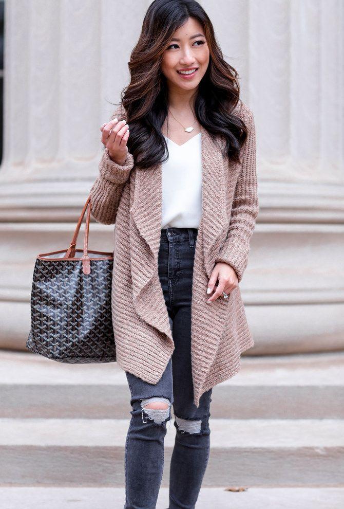 waterfall cardigan topshop jamie jeans // Cambridge, MA fashion blog
