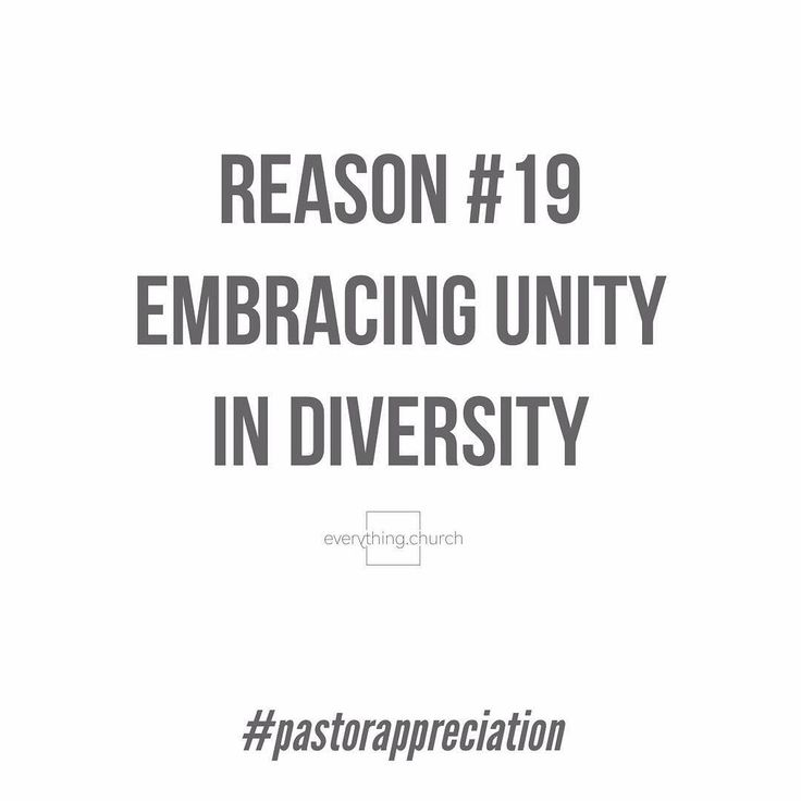 We appreciate our pastorsReason #19  Embracing unity in diversity.   The church needs to band together as brothers and sisters in Christ like never before so thank you for bravely leading the way and believing are all one in Christ Jesus.  // everything.church   #everythingchurch #pastorappreciation #thankyou #pastorappreciationmonth #leadership #pastors #church #ministry #churchleaders #churchstaff #leadpastors #studentpastors #stumin #nextgen #studentmin #youthmin #kidsmin #communication…
