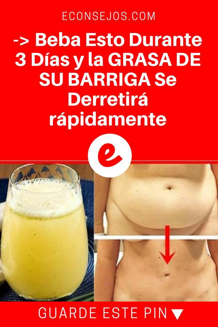 Grasa de la barriga | -> Beba Esto Durante 3 Días y la GRASA DE SU BARRIGA Se Derretirá rápidamente | El Poderoso Jugo Detox Quema Grasa (Receta Completa)