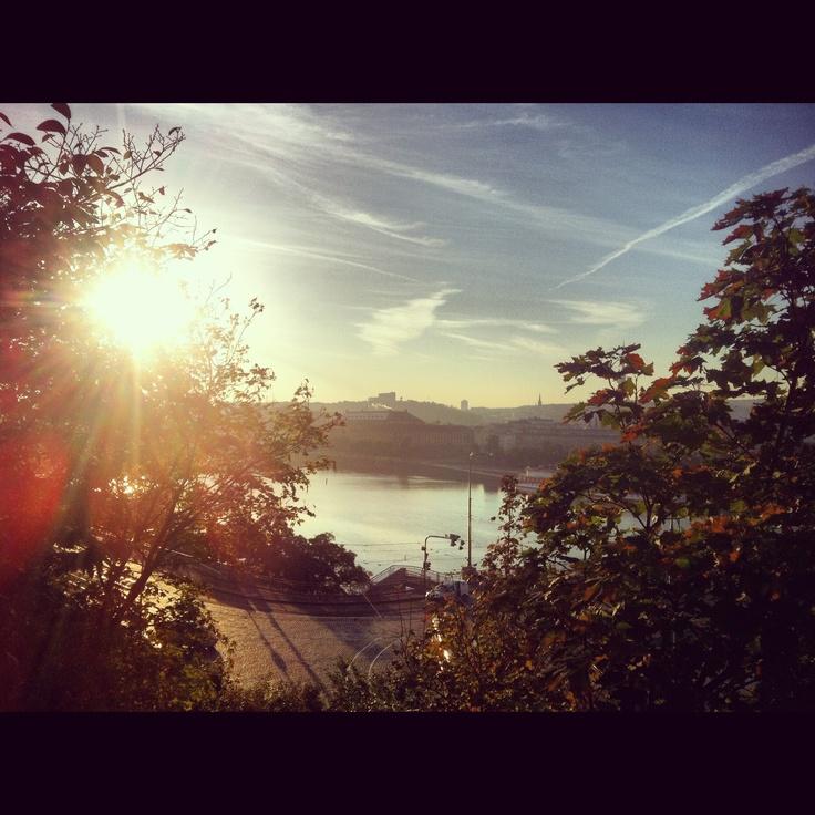 #prague #praha #letna #morning #running #beatiful #sunrise #great view
