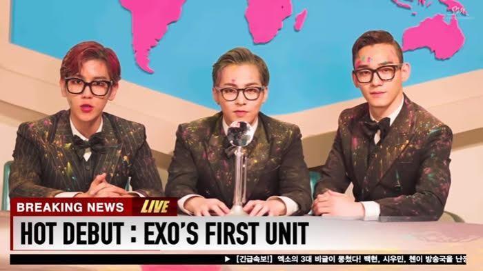 Baekhyun, Xiumin, dan Chen Jadi Pembaca Berita di Teaser Sub Unit EXO