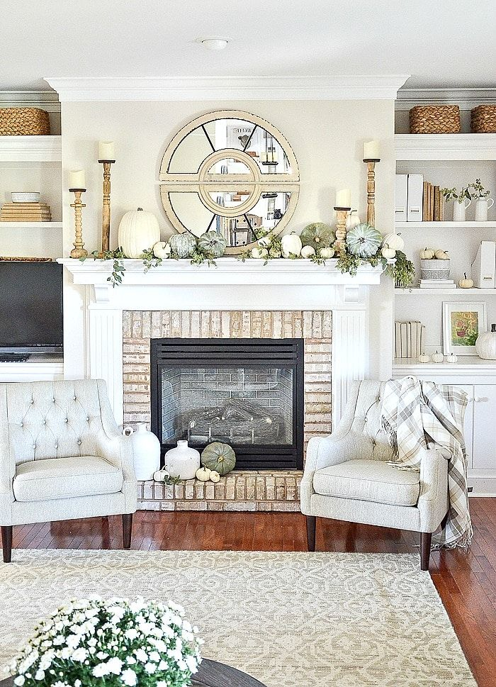 How To Professionally Decorate A Mantel Painted Furniture Ideas In 2020 Fall Mantle Decor Fall Mantel Decorations Fall Home Decor #painted #furniture #in #living #room