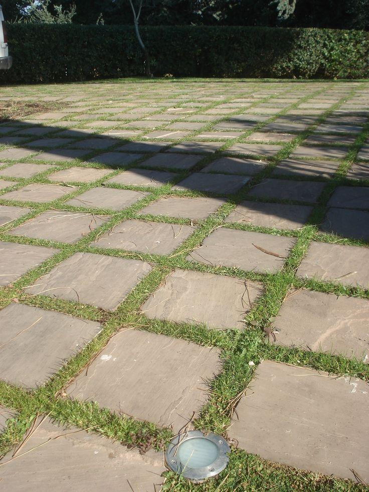 35 migliori immagini realizzazioni in pietra arenaria su - Pavimentazione giardino in pietra ...