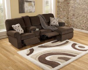 Cybertrack Chocolate Brown Power Reclining Chaise Sectional Sofa by Ashley Furniture Reviews