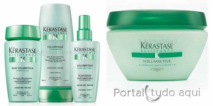 como-dar-volume-aos-cabelos-fnos-Kérastase Resistance produtos