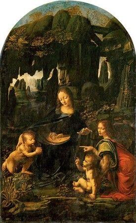 """The Virgin of the Rocks (Louvre version),"" by Leonardo da Vinci, c. 1483–1486"