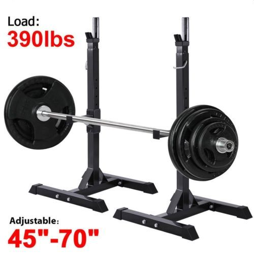 2X Adjustable Rack Standard Solid Steel Barbell Squat Bench Press Workout Stand