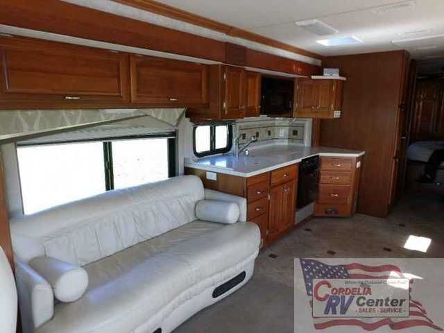 2006 Used Fleetwood Revolution 40LE Class A in California CA.Recreational Vehicle, rv, 2006 Fleetwood Revolution 40LE, 2006 Fleetwood Revolution 40LE Class A Diesel Pusher 2 Roof A/C , 400 HP Cat, Spartan Chassis Power Awning Back Up Camera Generator Tow Hitch Leather Seats Leveling System Convection Oven Power Seats Side By Side Fridge 3 Slide Out Rooms Outside Shower CD Player DVD Player 2 TVs Inverter Exhaust Brake