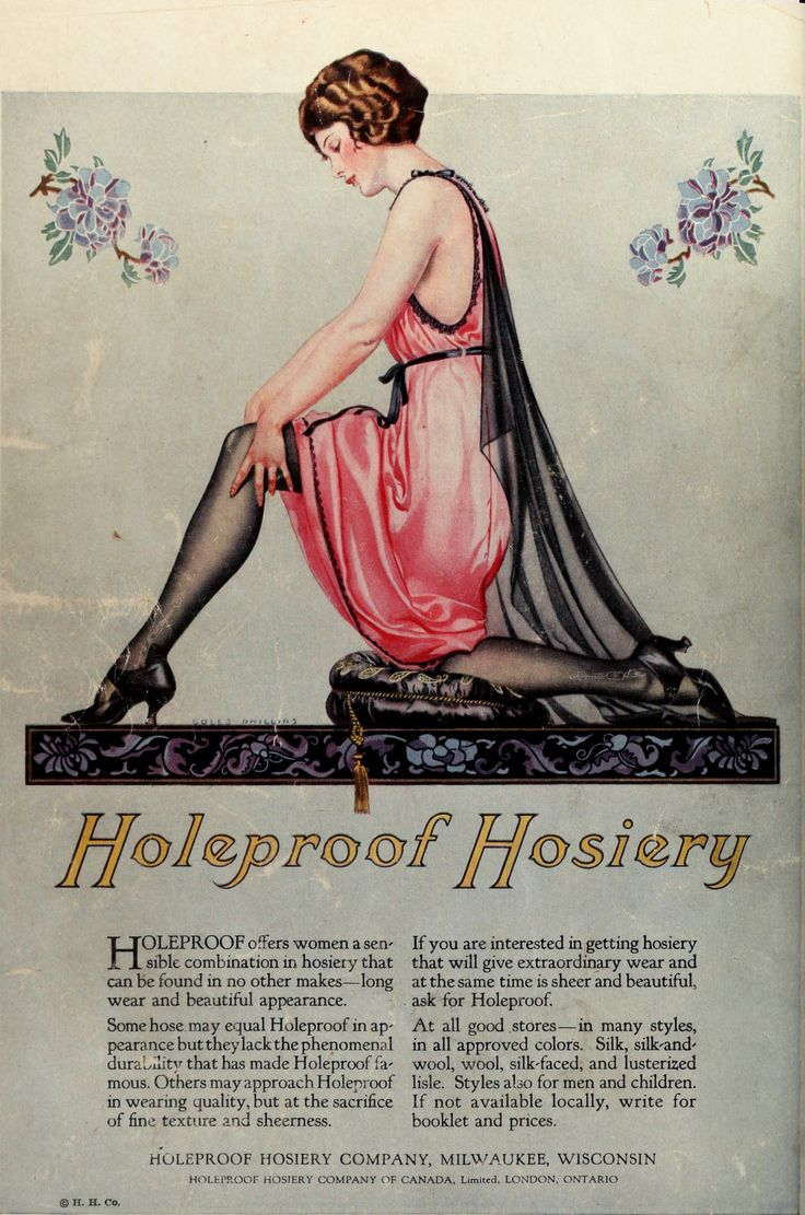 Holeproof Hosery Company Advertisement Circa 1923