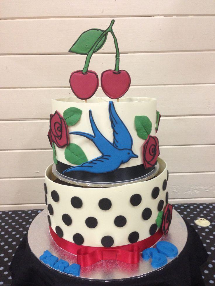 De  Bästa Birthday Cakesbilderna På Pinterest - Rockabilly birthday cake