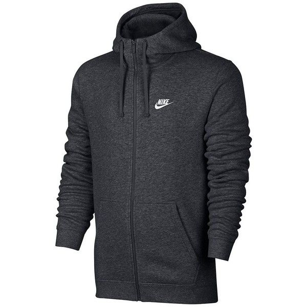 Men's Nike Club Fleece Hoodie ($55) ❤ liked on Polyvore featuring men's fashion, men's clothing, men's hoodies, grey, mens fleece lined hoodies, mens hoodies, mens zip pocket hoodie, mens grey hoodie and mens gray hoodie