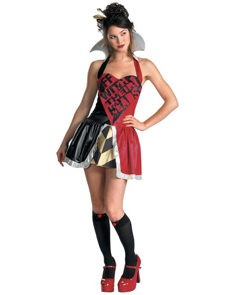 Teen Queen Of Hearts Costume - the skirt would work for the 10-mile run.