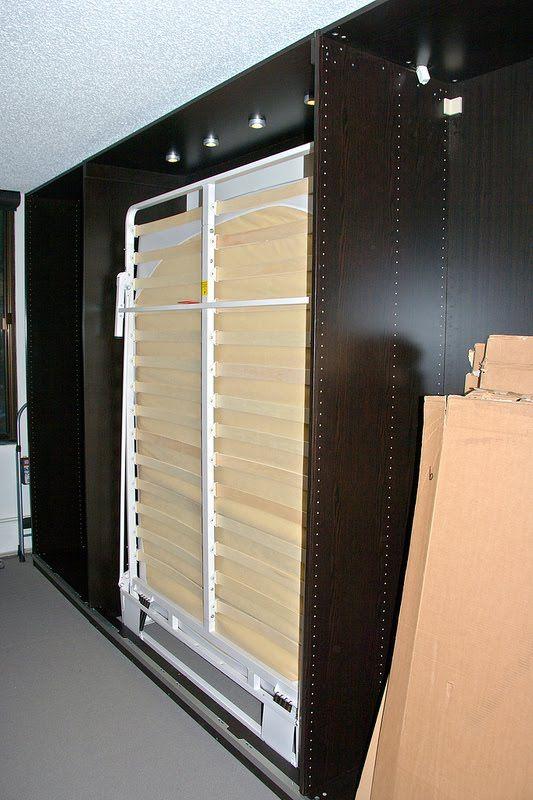 ikea hackers pax murphy bed with sliding doors