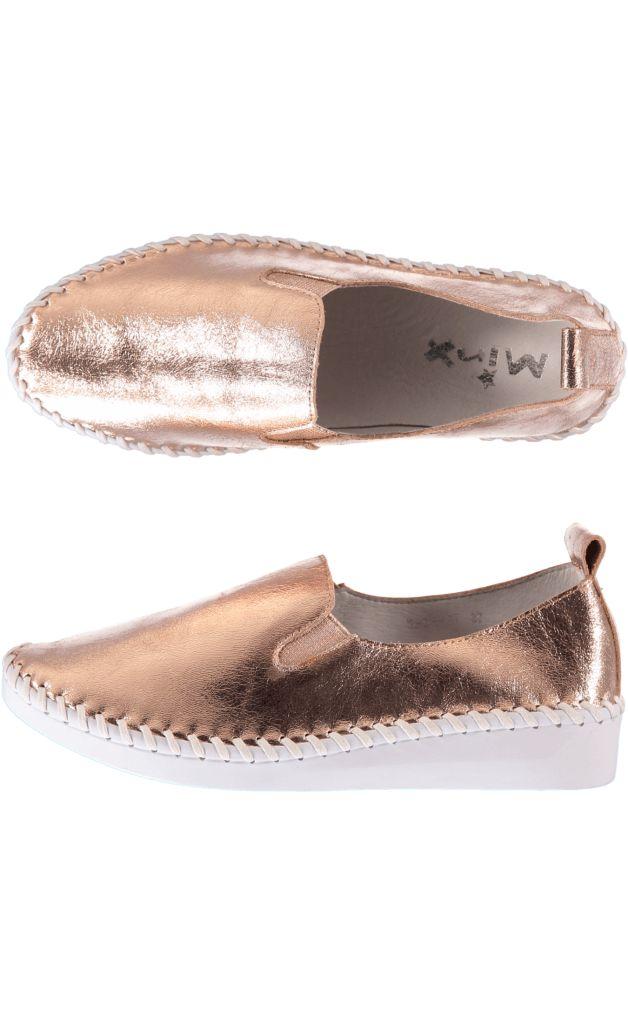 The Paua Room - Slip on bye rose gold shoe, $169.00 (http://www.thepauaroom.com/slip-on-bye-rose-gold-shoe/)