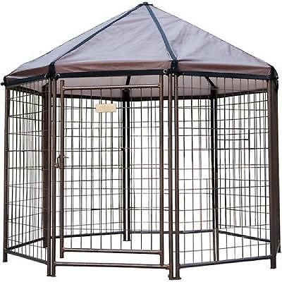 Outdoor Pet Gazebo Portable Dog Kennel House Crate Cage Enclosure 5x5x5 Ft Patio