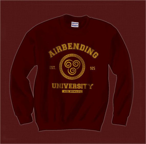 Airbending University Avatar Last Airbender Crewneck