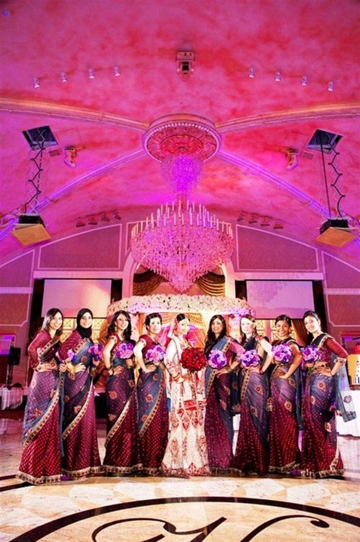 Indian Bridal Party, Bridal Party Saris