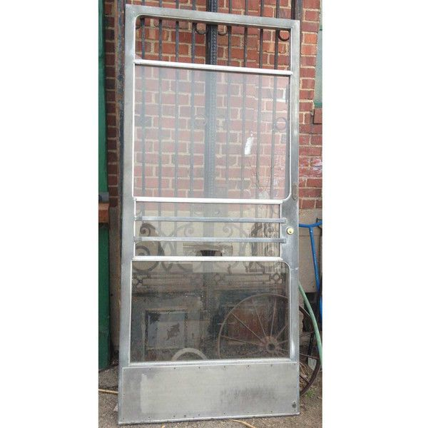American 50's Industrial Cast Aluminum and Glass Single Front Door heavy  solid - 44 Best Make A Statement Antique Doors Images On Pinterest